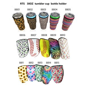 41 Styles Neoprene Tumbler Holder Cover Bags Drinkware Handle 30 OZ Reusable Insulated Sleeve bag Coffee Mugs Cups Water Bottle RRD7541