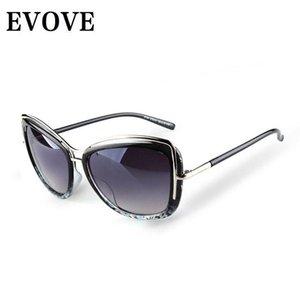 Evove Fashion Sunglasses Women 2021 New Sun Glasses for Female Ladies White Cat Eye UV400
