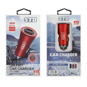 USB Car Charger Quick Charge QC3.0 STD PD 20w Type C Fast Charging colorful adaptor with gift box package