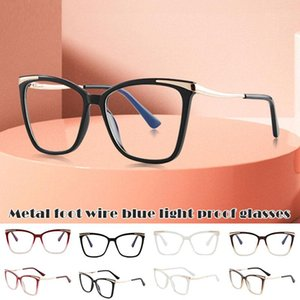 Frauen Blue Light Blocking Brille Retro Computer Spiel Gläser Runde Brillen Metallrahmen Blaues Licht