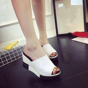 Youyedian Sandalet Kadınlar Takozlar Kadınlar Için Peep Toe Ayakkabı Roma Sandalet Bayanlar Çevirme Sandalias Con Plataforma E100 #
