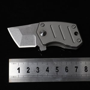Titanium alloy s35vn folding knife high hardness Mini sharp portable self defense key EDC outdoor pocket folding knife HW104