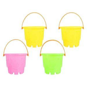 4pcs Castle Mold s Mini Toy Children Plastic Sand Bucket
