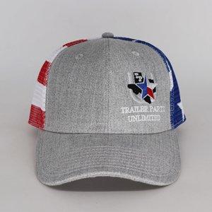 richardson style 6 panel light curved brim trucker cap hat