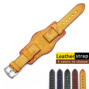 Real leather watch band 20 Mm 22 Mm 24 mm Sier stainless steel Gesp Vintage Koe Leather watch band For watch band