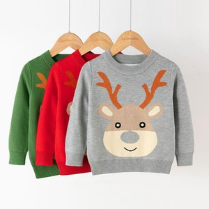 Pullover Winter Warm Sweater For Boys Girls Children High Quality Sweaters Knitted Print Tops 2021 Autumn Kids Christmas Unisex