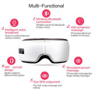 Massager de vibrao do Olho Rugas Terapia de Presso de Ar Massagem do Cuidado do Olho Aliviar A Fadiga Compresso Quente Dispo