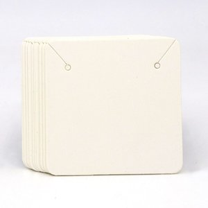 5*5cm 50pcs Colorful Square Blank Kraft Paper Jewelry Necklace Cards Label Tags Handmade Diy Accessories Wholesale