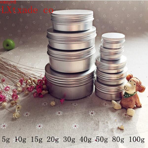 Free Shipping 5g 10g 20g 30g 40g 50g 60g 100g Empty Silver Aluminum Bottles Jars Cosmetic Cream Candle Packaging Containershigh qualtity