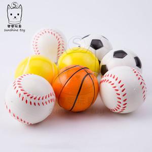 Stress Ball squeeze football basketball tennis Baseball toys squeezy foam sponge Pu finger fun balls squishy stress relief vent ball H38Q5UX