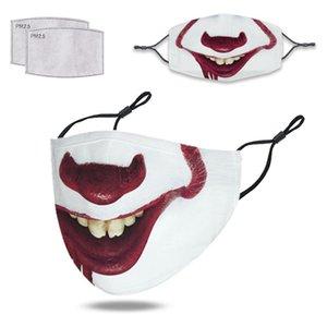 3D digital impressão impermeável impermeável máscara de algodão impermeável pano de algodão máscara de face atacado personalização estrangeira