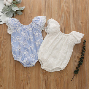Baby Girl Romper Summer Jumpsuit Flower Infant Newborn Girl Princess Short Sleeve Onesies Bodysuit Clothes Lace Romper