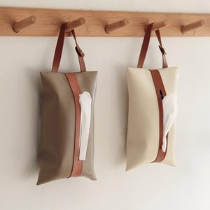 Tissue Boxes & Napkins Car Box Pumping Chic Hangable Case PU Leather Home Towel Napkin Papers Dispenser Holder Paper Bag