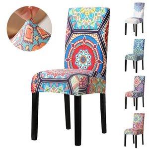 Copertura della sedia stampata floreale Home Decor vintage Decor Elastico Elastic Spandex Seat Cover Bohemia Ristorante Sedia per banchetti da sposa Slipcover D30