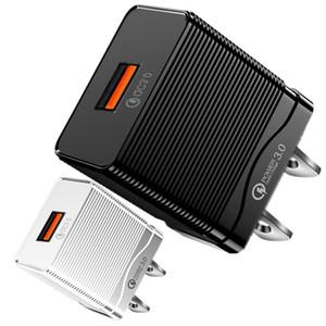 Mini Portable QC3.0 Fast Schnellaufladung EU US AC Home Wall Ladegerät Stecker für iPhone 11 12 Samsung Tablet PC-Lautsprecher