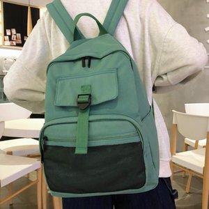 Женщина сплошной школы сумка для девочек-подростков 2021 нейлон путешествия рюкзак женские mochilas sac a dos ladie ноутбук rucksack мужская сумка