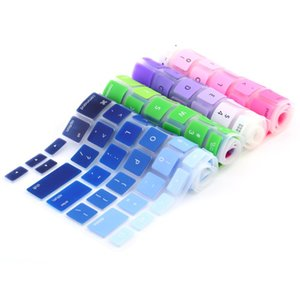 """ملون سيليكون غطاء لوحة المفاتيح لوحة المفاتيح حامي الجلد ل أبل ماك بوك 11 """"13"""" 15 """"قوس قزح كمبيوتر محمول لوحة مفاتيح الولايات المتحدة"""