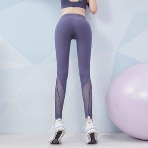 Elastic Tight Fitness Malla de mujer Capris Capris Running Sexy Belly y Hip Levantamiento Pantalones de yoga Movimientos