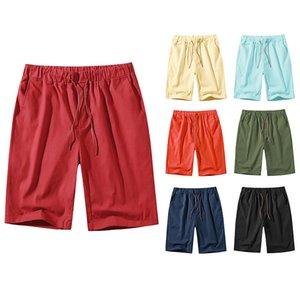 2021 Großhandel Sommer Mode Shorts Männer Neue Design Board Kurzer Schnelltrocknung Swimwear Solid Board Strand Hosen Sportbekleidung Herren Schwimmen kurz