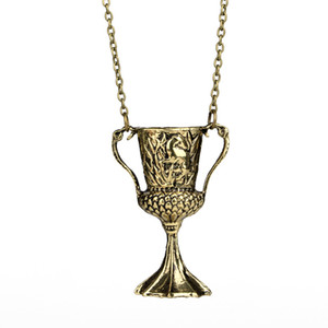 New fashion charms jewelry Harry Horcrux Conversion Helga Hufflepuff Cup Pendent Necklace gifts For Women Men Free Shipping