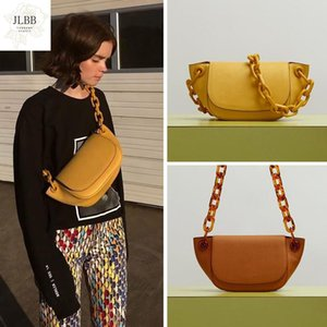 Retro Pure Color Acrylic Chain Dumpling Bags Casual Shoulder Crossbody Bag Womans Handbag Designers 2021 Party Purse Female sac