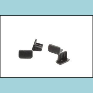 Anti-Dust Gadgets Phone Aessories Cell Phones & Aessories Micro Jack Dongle Plastic Micro Rubber Plug Mini Usb Dust Plug White Black Drop De