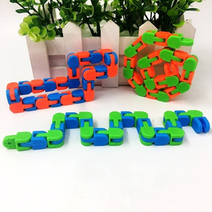 wacky tracks chain decompression toy Bicycle chain Fiddle Anti Stress Hand Sensory Toys Finger Autism Training Fidget Toys SALE H24K5O5