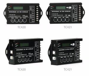 TC420 TC421 TC423 Time Programable RGB LED Controller Dimmer 5 Channel Common Anode for RGB LED Lights Aquarium Lighting