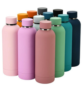 News Cup 17oz 500ml Flask Sports Water Bottle Double Walled Stainless Steel Vacuum Insulated Mugs Travel Thermos Custom Matte Colors