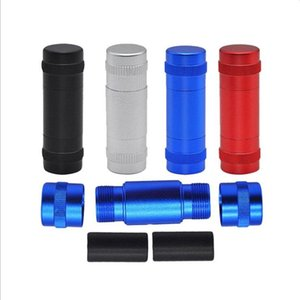 Aluminum Alloy Space Case Pollen Press Hash Compress With 2 Metal Dowel Rods Metal Press Pollen Metal Smoking Water Pipes or Grinders