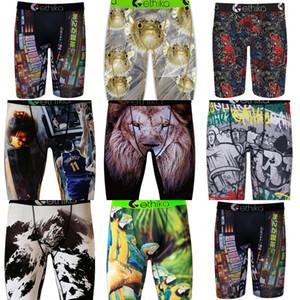 Erkek Boxer Iç Çamaşırı Marka Ethika Moda Erkekler Erkek Spor Kısa Boksörler Plaj Yüzmek Sandıklar Pantolon Grafiti Boxer Kısa Külot H22501