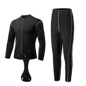 Erkekler Wome 3mm / 5mm Scuba Snokling Wetsuits Ayrı Ceket Pantolon Uzun Kollu Neopren Wetsuits Ön Fermuar Yüzmek Surf Dalış Suit