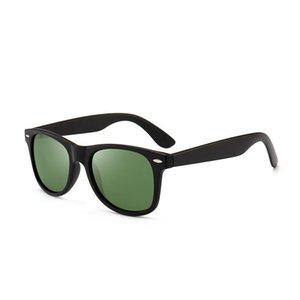 Klasik Erkekler Güneş Gözlüğü Retro Pirinç Tırnak Polarize Güneş Gözlükleri Adam Abay Yeşil Sürüş Tam RIM UV400 Feminino