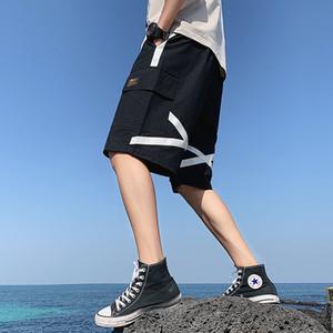 2021 New Mens Sport Shorts Cotton Man Sweat Pans 5xl Men's Joggers Short Summer Sweatpants Loose Pant for Men Clothes Male D994