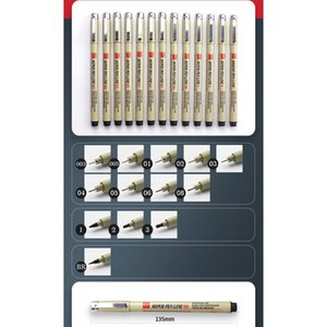 Pigment Liner Micron Pen Neelde Weiche Bürste Zeichnung Stift Los 005 01 02 03 04 05 08 1.0 Pinsel Art Marker F Qylifa