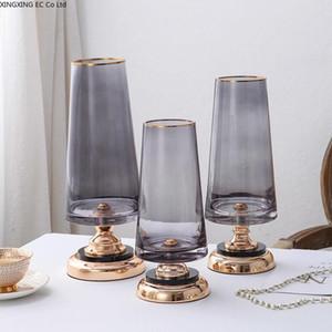 Modern Transparent Glass Vase Decoration Living Room Flower Arrangement Dried Flowers Creative Nordic Dining Table Flower Vase