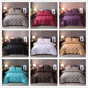 Luxury Black Duvet Cover Pinch Plieg Brief Rood Ropa de cama Reina King Tamaño 3 Unids Sistema de ropa de cama Conjunto de cubiertas de edredón con funda de almohada45 472 v2