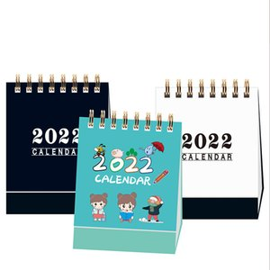 2022 2021 Simple Desktop Calendar Coil Creative Portable Work Note New Year Plan Daily Monthly Planner Schedule Office School Supplies wzg TL0715