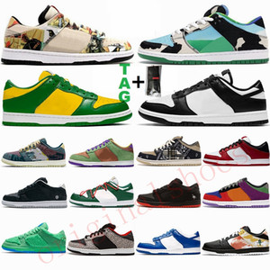 2021 Fashion Flat Zapatos para correr para hombre Travis Brazil Lobster Chicago Paris Scotts Low Zapatillas de skate para mujer Panda Bears Suede Outdoor Trainers