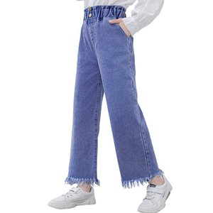 Jeans Girl Ripped Girl Jeans Child Spring Autumn Kid's Casual Style Children's Clothes 6 8 10 12 14