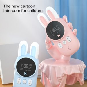 TJ Portable 1 Pair Science & Discovery Talkies Kids Toy Cute Rabbit Walkie Handheld Talk Parent-Child Educational Interactive Toys