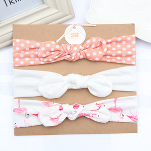 3pcs set Baby Headband For Girls Flower Rabbit Ear Baby Bows Hairband Baby Turban Hair Accessories Christmas Day Gifts
