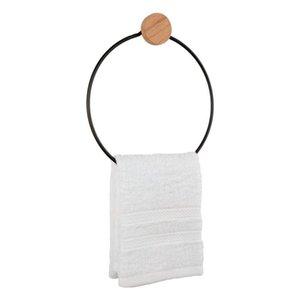 Towel Racks Black Aluminum Holder Bathroom Paper Nail-free Round Square Hook Item Hanging Rack Shelf