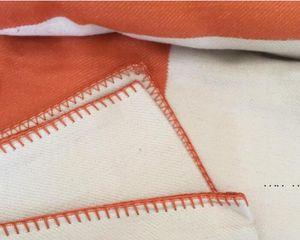 Letter Blanket Soft Wool Scarf Shawl Portable Warm Plaid Sofa Bed Fleece Spring Autumn Women Throw Blankets FWB5329