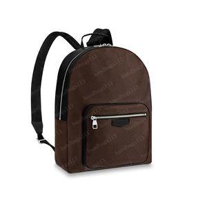 2021 Rucksack Herren Schultaschen Schultertasche Abnehmbare Gurt Rindsle Echtes Leder Modebrief Muster String 41530 Männer 32x42x13cm # BE01