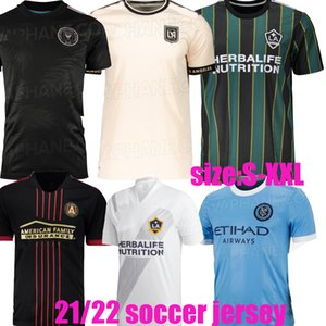 2021 2022 Inter Miami CF Los Angeles La Galaxy Fussball Jerseys 21 22 Atlanta United Lafc New York City FC Higuain Beckham Football Uniformen