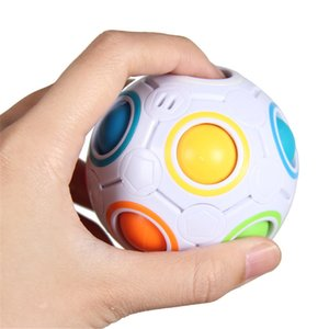 Rainbow Puzzle Ball Pack Pouch Color Matching Game Fidget Toy Stress Magic Brain Kids Adults Children
