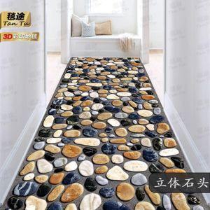 Carpet créatif 3D plante plante couloirs de fleur de fleurs pour salon chambre à coucher Tapis de plateau couloir Cuisine Tapis anti-glissement antidérapant