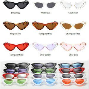 Luxury designer Sunglasses Vintage Cateye 2021 Women Sexy Retro Small Cat Eye Sun Glasses Brand Designer Eyewear for Female Oculos De Sol 0622