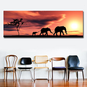 Printed Modern African Style Landscape Oil Painting On Canvas One Piece Wall Picture Art For Bedroom Room Quadro Home Decor